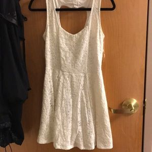 White dress with heart cutout